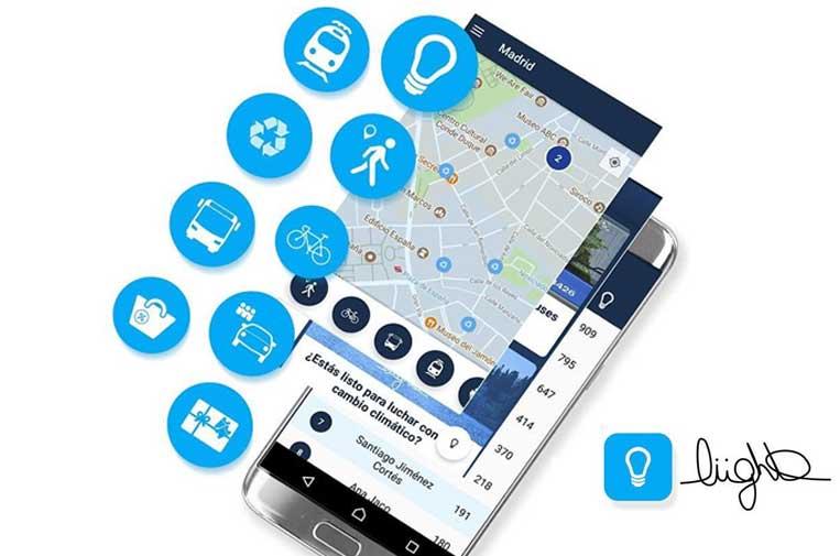 <p>Liight, la 'app' que premia por ser sostenible.</p>