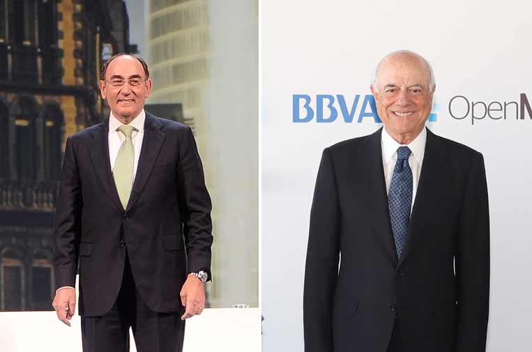 <p>Ignacio Sánchez Galán, presidente de Iberdrola, y Francisco González, expresidente del BBVA.</p>