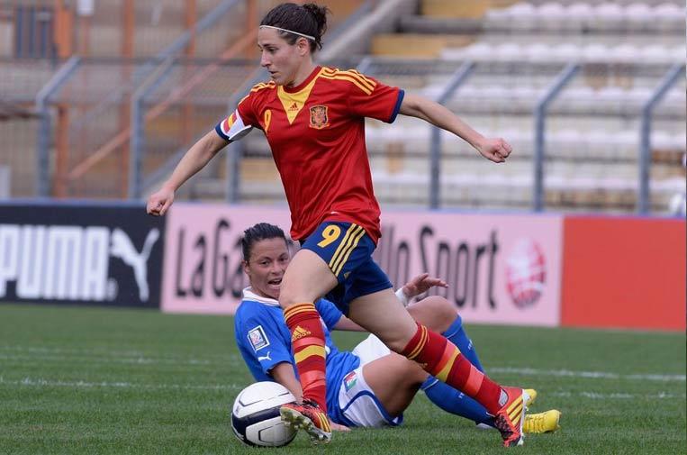 <p>Vero Boquete ha sido internacional con la selección femenina de fútbol de España. Foto: Vero Boquete.</p>