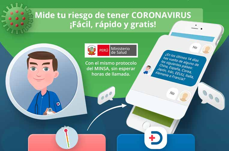 <p>Doktuz ha desarrollado un 'bot' para la autoevaluación del coronavirus.</p>