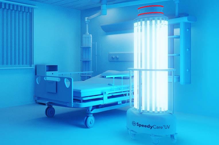 Crean un robot de desinfección que elimina virus en pocos minutos con luz ultravioleta
