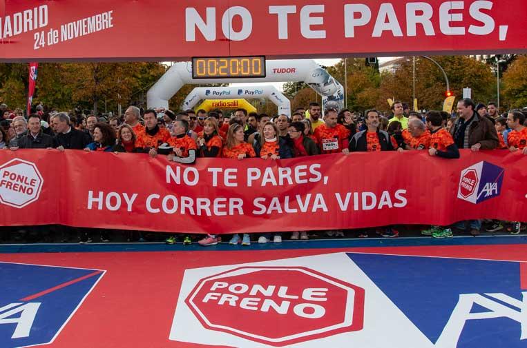 <p>Carrera de Madrid Ponle Freno 2019. Foto: Atresmedia.</p>