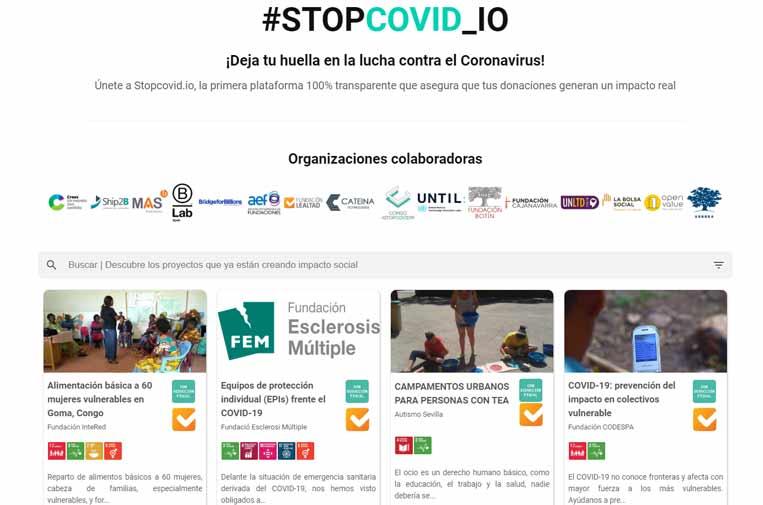 'Blockchain' para gestionar con transparencia las donaciones en torno al coronavirus