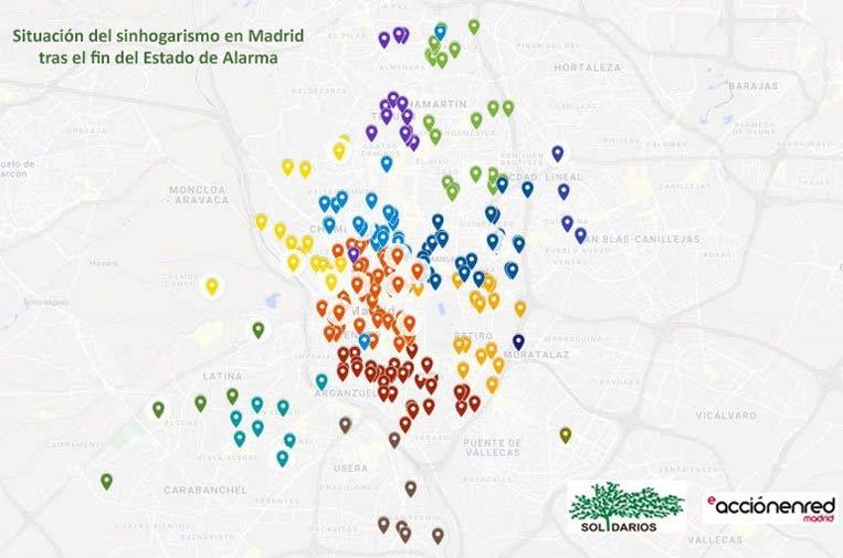 La pandemia dibuja un nuevo mapa del sinhogarismo en Madrid