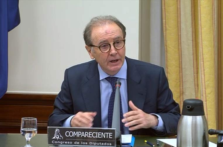 <p>Martín Sellés, presidente de Farmaindustria, durante su comparecencia ante la Comisión para la Reconstrucción Económica y Social. Foto: Farmaindustria.</p>