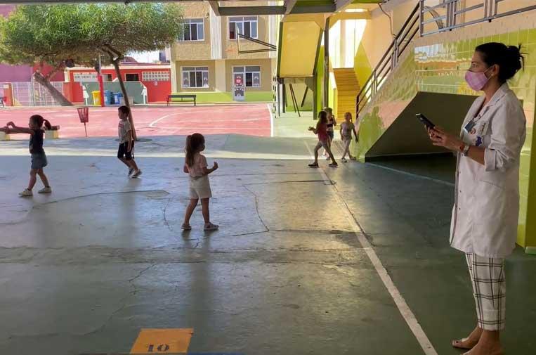 <p>El 'Reto Aulas Covid Free' se ha puesto en marcha en un colegio de Paterna (Valencia).</p>