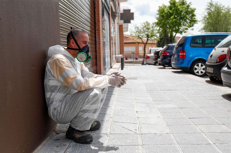 <p>Foto: Agencia AFP7 publicadas en el libro 'COVID19: Más allá de los límites'.</p>