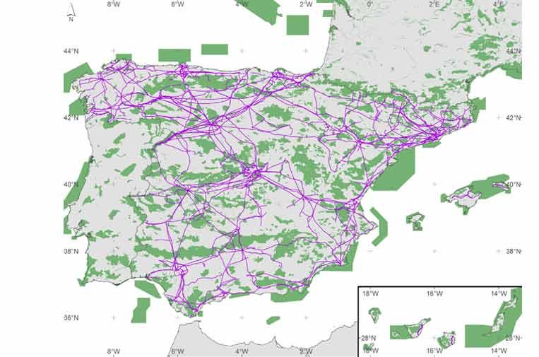 El CSIC propone usar las redes eléctricas para conectar fauna fragmentada