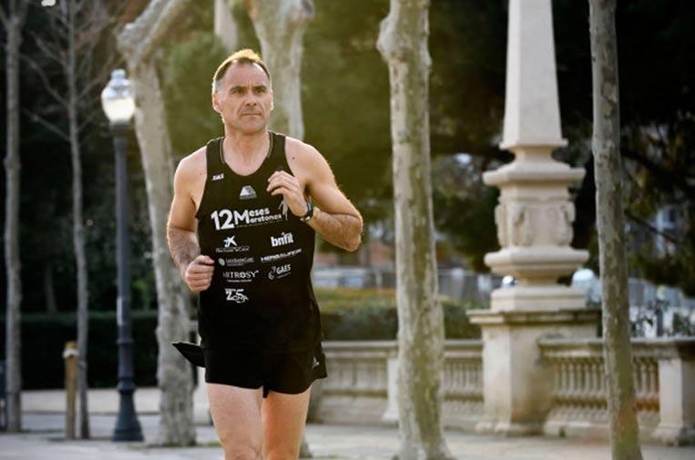 <p>Juanjo Amate, corredor de maratones.</p>