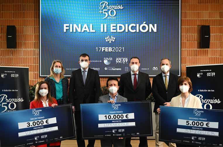 Tres sénior se alzan con los Premios +50 emprende de Generación Savia