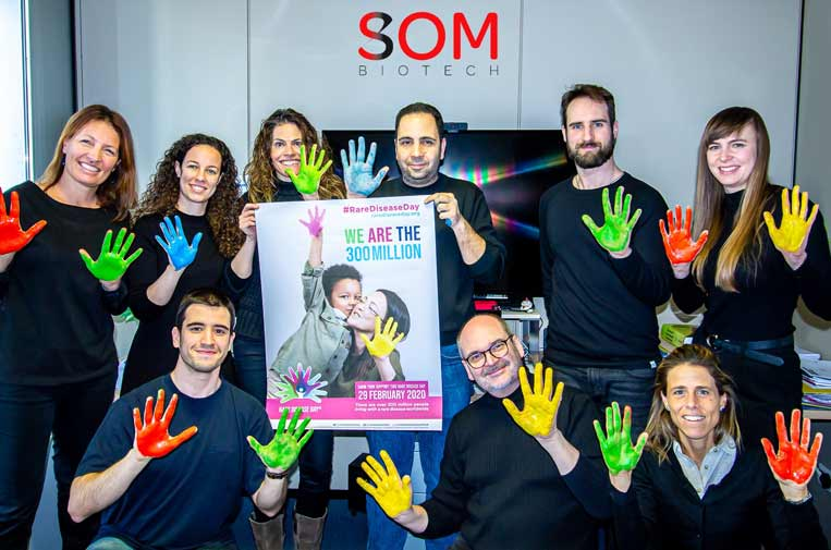 <p>SOM Biotech apoyando el Día de las Enfermedades Raras. Foto: SOM Biotech.</p>