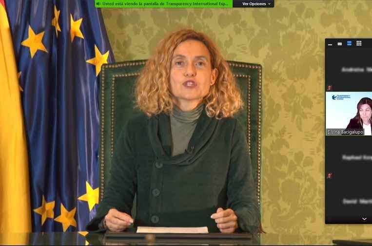 <p>Meritxell Batet, presidenta del Congreso de los Diputados. Foto: Transparencia Internacional España.</p>