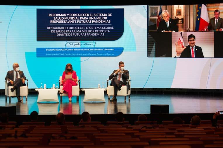 Líderes iberoamericanos demandan reformas y colaboración contra las pandemias