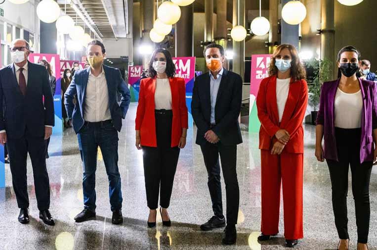 <p>Candidatos a las elecciones de la Comunidad de Madrid. Foto: Comunicación Telemadrid.</p>