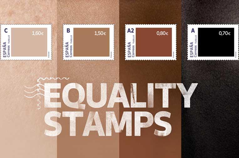 Correos lanza 'Equality Stamps', unos sellos contra la discriminación racial