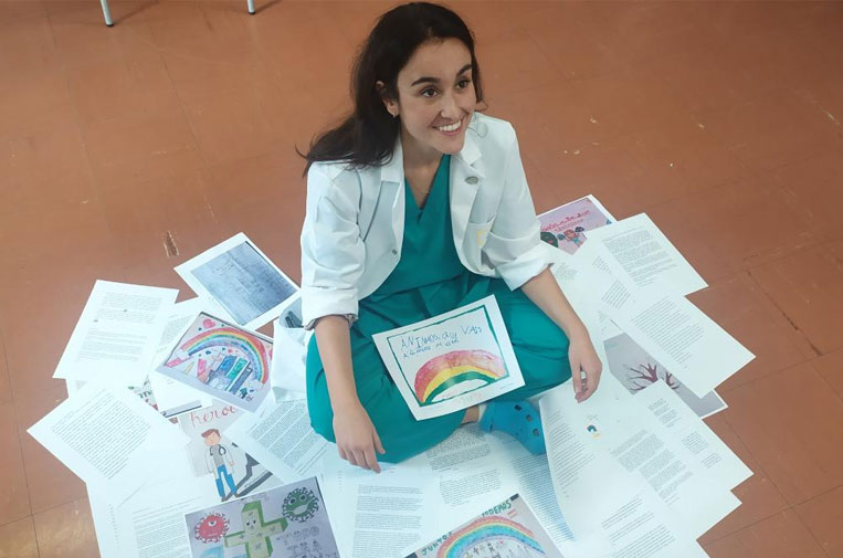 La médica impulsora de las cartas de ánimo contra el aislamiento, Premio Dresde de La Paz