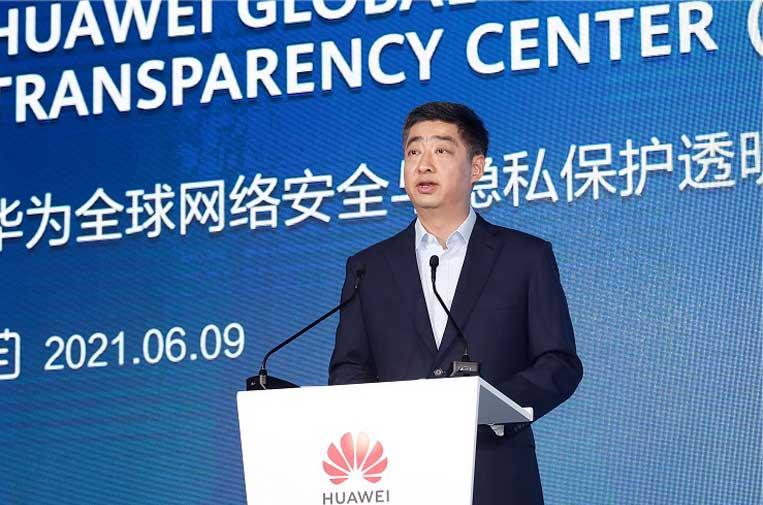 <p>Ken Hu, presidente rotatorio de Huawei. Foto: Huawei.</p>