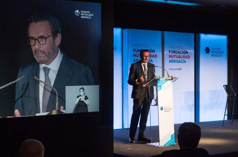 <p>Enrique Sanz Fernández-Lomana, presidente de Mutualidad de la Abogacía. Foto: Mutualidad de la Abogacía.</p>