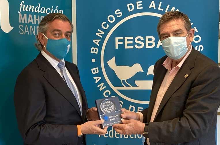 <p>Fundación Mahou San Miguel recibe el reconocimiento 'Premios Estrellas' de Fesbal por su contribución en 2020. Foto: Mahou San Miguel.</p>