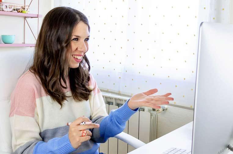 <p>Lucía Jiménez Vida, experta en hábitos y productividad. Foto: Lucía Jiménez Vida.</p>