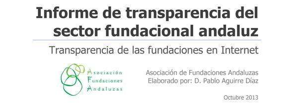 transparencia informe fundaciones andaluzas Las 10 mejores iniciativas sobre transparencia y buen gobierno